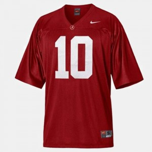 #10 Youth A.J. McCarron College Jersey Alabama Red Football