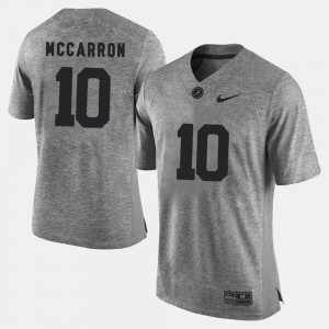 A.J. McCarron College Jersey Gray Mens #10 Gridiron Gray Limited Roll Tide Gridiron Limited