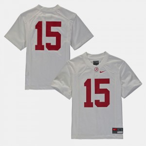 #16 For Kids White College Jersey Football Bama