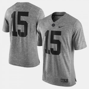 #15 Gridiron Gray Limited Men College Jersey University of Alabama Gray Gridiron Limited