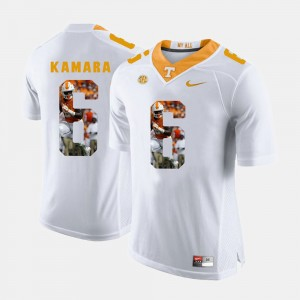 Pictorial Fashion White Tennessee Volunteers #6 Alvin Kamara College Jersey For Men's