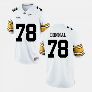 Andrew Donnal College Jersey For Men's #78 Alumni Football Game White University of Iowa