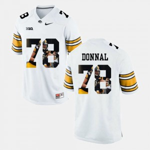 For Men #78 White Iowa Andrew Donnal College Jersey Pictorial Fashion