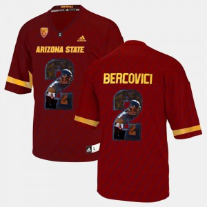 Mike Bercovici College Jersey For Men's Player Pictorial #2 Sun Devils Red