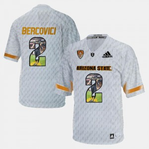 White For Men Mike Bercovici College Jersey Arizona State University #2 Player Pictorial