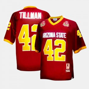 Youth Sun Devils Red #42 Football Pat Tillman College Jersey
