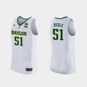 Bears #51 Caitlyn Bickle College Jersey 2019 NCAA Women's Basketball Champions Women's White