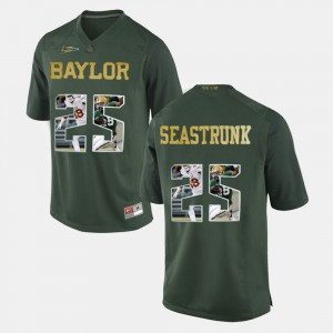 Green For Men's Player Pictorial Baylor Bears #25 Lache Seastrunk College Jersey