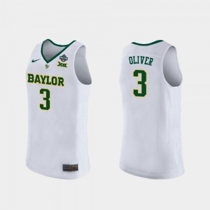 Trinity Oliver College Jersey Women #3 2019 NCAA Women's Basketball Champions White Bears