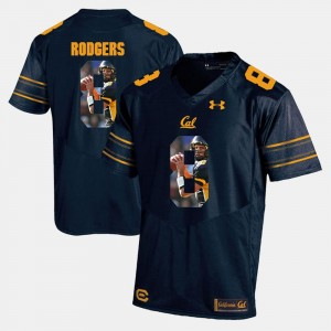 Navy Blue #8 University of California Aaron Rodgers College Jersey For Men Player Pictorial