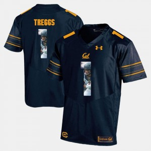 Player Pictorial Bryce Treggs College Jersey #1 Cal Navy Blue Men