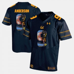 California Bears #9 Navy Blue Mens Player Pictorial C.J. Anderson College Jersey