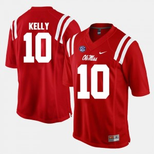 For Men's Red Ole Miss #10 Chad Kelly College Jersey Alumni Football Game