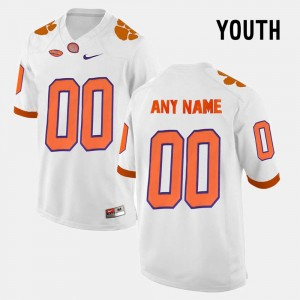 Limited Football Youth #00 White College Customized Jersey CFP Champs
