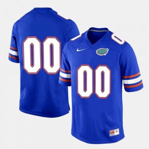 College Customized Jersey Limited Football #00 Royal Blue Gator Men