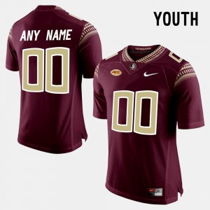 For Kids Limited Football Florida ST College Customized Jerseys #00 Red
