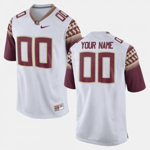 White Limited Football #00 Florida State For Men College Custom Jersey