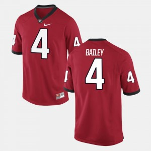 #4 UGA Red Alumni Football Game For Men Champ Bailey College Jersey
