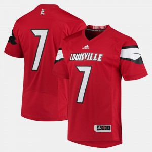 Red #7 Louisville Cardinals Mens 2017 Special Games College Jersey