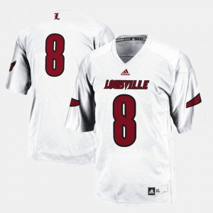 Football Louisville For Men White #8 College Jersey