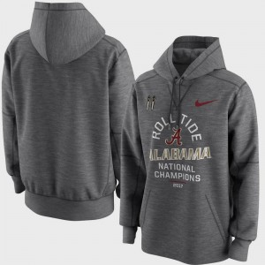 College Hoodie University of Alabama Bowl Game For Men's Football Playoff 2017 National Champions Celebration Victory Charcoal