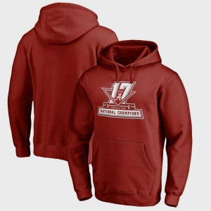 Football Playoff 2017 National Champions Official Crimson College Hoodie For Men's Bowl Game Alabama Crimson Tide