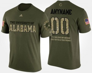 College Customized T-Shirts Roll Tide Short Sleeve With Message #00 Military Camo For Men