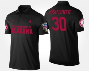 Dont'a Hightower College Polo Sugar Bowl Bowl Game For Men's University of Alabama Black #30