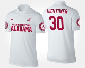 White Alabama Roll Tide Dont'a Hightower College Polo Men's #30