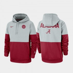 University of Alabama College Hoodie Therma Performance Pullover Men Gray Crimson Rivalry