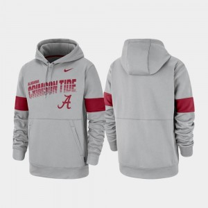 Pullover Performance For Men Gray Bama College Hoodie