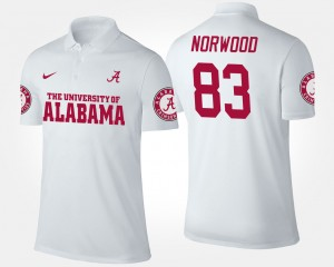 Bama White For Men Kevin Norwood College Polo #83