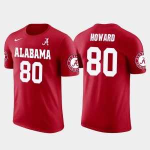 Roll Tide Tampa Bay Buccaneers Football Men's #80 Future Stars O.J. Howard College T-Shirt Red