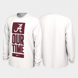 White 2020 March Madness College T-Shirt Men Bama Our Time Bench Legend