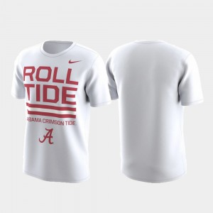 College T-Shirt White Performance Men's Roll Tide Local Verbiage