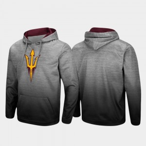 Pullover For Men Heathered Gray Arizona State Sun Devils College Hoodie Sitwell Sublimated