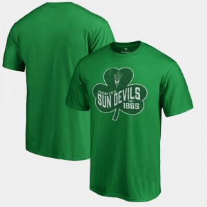 Kelly Green For Men's Sun Devils St. Patrick's Day Paddy's Pride Big & Tall College T-Shirt