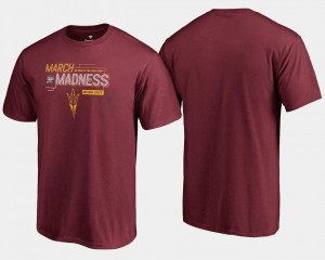 2018 March Madness Bound Airball Basketball Tournament ASU For Men Maroon College T-Shirt