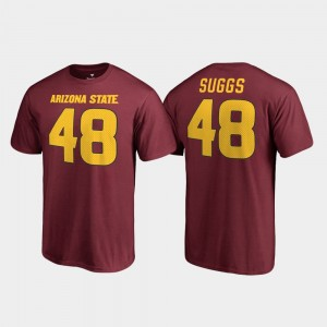 #48 Arizona State University For Men Maroon Terrell Suggs College T-Shirt Legends Name & Number