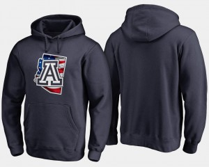 Big & Tall For Men College Hoodie Wildcats Banner State Navy