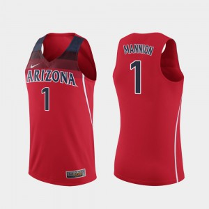 Red Basketball Wildcats #1 For Men's Replica Nico Mannion College Jersey