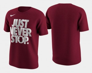 Crimson Basketball Tournament Just Never Stop For Men March Madness Selection Sunday Arkansas College T-Shirt