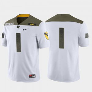 White #1 1st Cavalry Division College Jersey Limited Edition Men's United States Military Academy