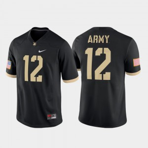#12 Black Men Game Army West Point Football College Jersey