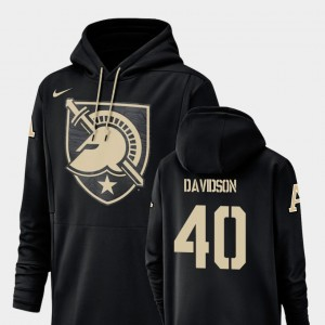 Army Black For Men's Football Performance #40 Andy Davidson College Hoodie Champ Drive