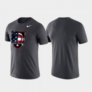 Anthracite Mens Americana Legend College T-Shirt Performance United States Military Academy