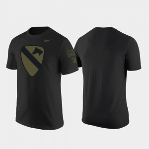 Mens Army 1st Cavalry Division College T-Shirt Black