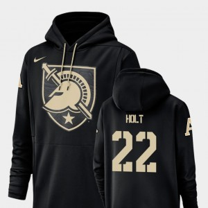 Champ Drive West Point Black #22 Football Performance Calen Holt College Hoodie Men's