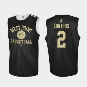 Basketball For Men's Cayne Edwards College Jersey #2 Army Black Knights Black Practice
