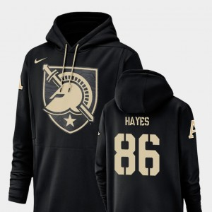 For Men Army Black Christian Hayes College Hoodie #86 Football Performance Champ Drive